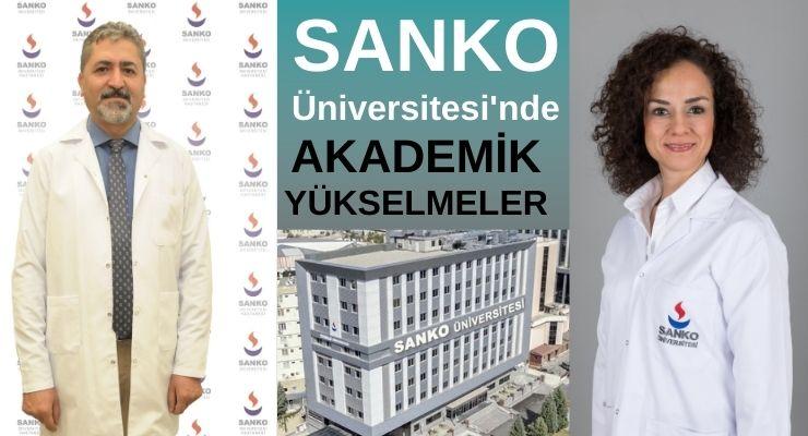 SANKO Üniversitesi'nde akademik yükselmeler