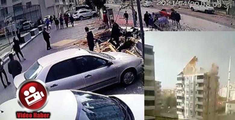 Gaziantep'te şiddetli rüzgar: Çatılar uçuştu